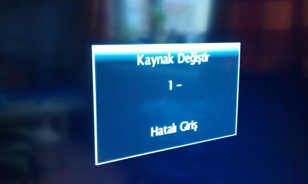 Türkische Fehlermeldung meines Fernsehers