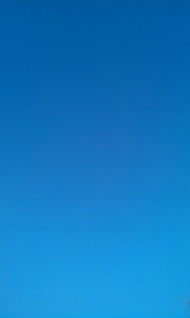 Ein blauer Himmel