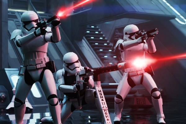 Star Wars: The Force Awakens First Order Troopers Ph: David James © 2015 Lucasfilm Ltd. & TM. All Right Reserved..
