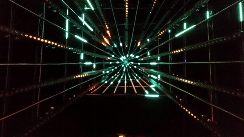 Lichtinstallation im Hackcenter